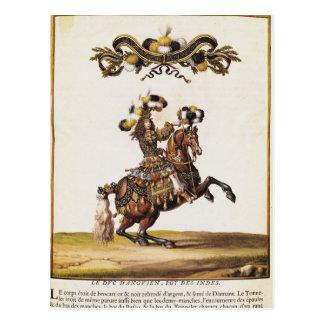 Cartão Postal O duque de Enghien como o rei dos indianos