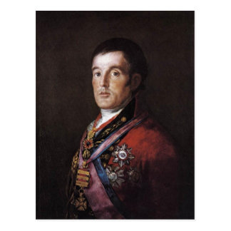 Cartão Postal O duque de Wellington por Francisco Goya Francisco