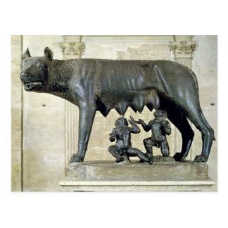 Cartão Postal O Ela-Lobo de Capitoline