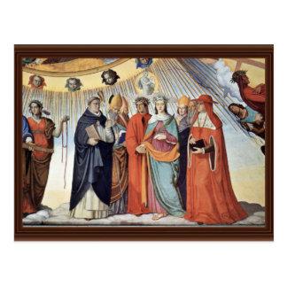 Cartão Postal O Empyrean e as figuras dos oito céus