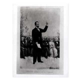 Cartão Postal O endereço de Lincoln em Gettysburg, 1895