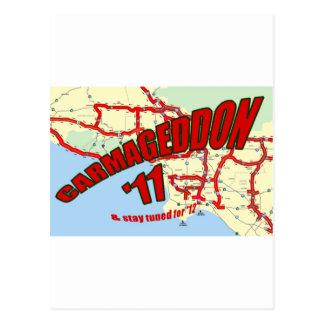 Cartão Postal O engarrafamento de CARMAGEDDON 405 em Los Angeles