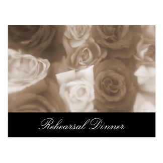 Cartão Postal O ensaio dos rosas do casamento vintage convida