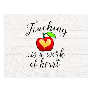 Cartão Postal O ensino é um trabalho da apreciação do professor