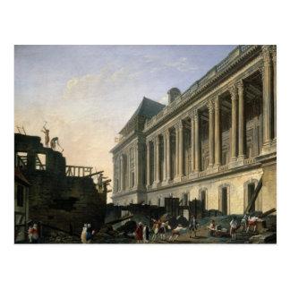 Cartão Postal O esclarecimento da colunata do Louvre, 1764