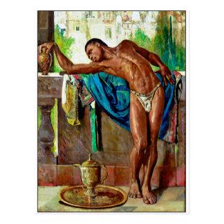 Cartão Postal O escravo por Gyula Tornai