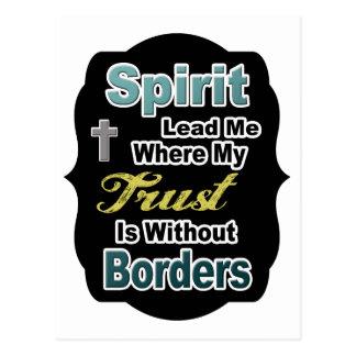 Cartão Postal O espírito conduz-me onde minha confiança é sem