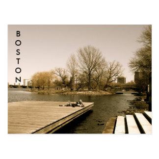 Cartão Postal O Esplanade de Charles River (sepia)