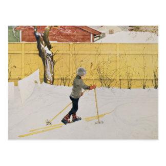 Cartão Postal O esquiador, c.1909