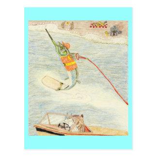 Cartão Postal O esquiador da água