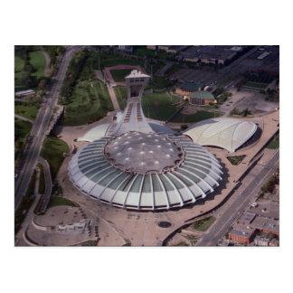 Cartão Postal O Estádio Olímpico, Montreal, Quebeque, Canadá