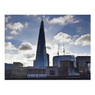 Cartão Postal O estilhaço e o banco sul Londres