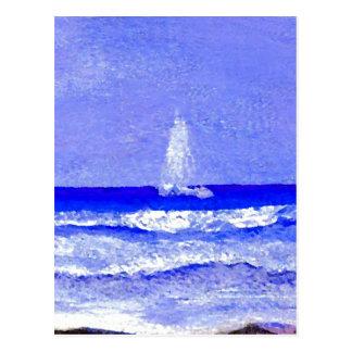 Cartão Postal O fantasma navega a arte do oceano de CricketDiane