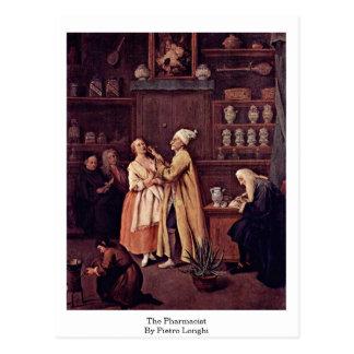Cartão Postal O farmacêutico por Pietro Longhi