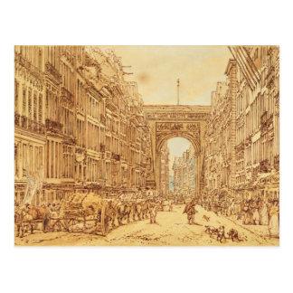 Cartão Postal O Faubourg e o Porte Santo-Denis, 1801
