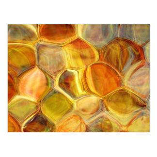 Cartão Postal o favo de mel escala a arte abstracta