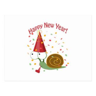 Cartão Postal O feliz ano novo! Caracol