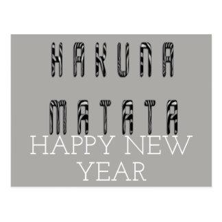 Cartão Postal O feliz ano novo de Hakuna Matata