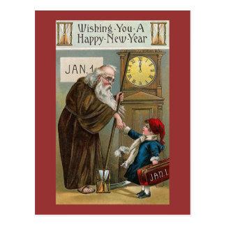 Cartão Postal O feliz ano novo do vintage