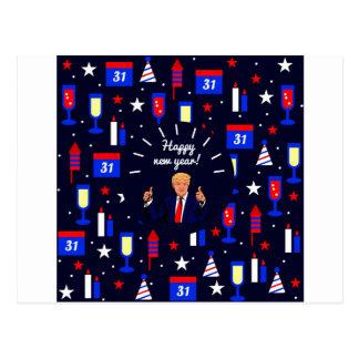 Cartão Postal o feliz ano novo Donald Trump