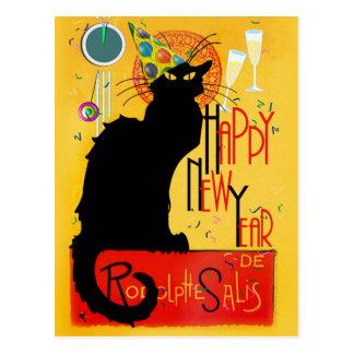 Cartão Postal O feliz ano novo Noir do bate-papo