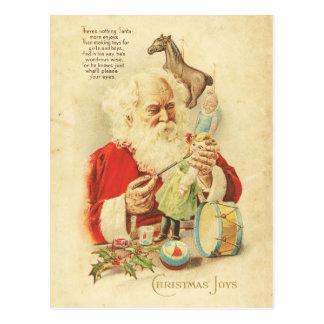 Cartão Postal O feriado da alegria do Natal do papai noel do
