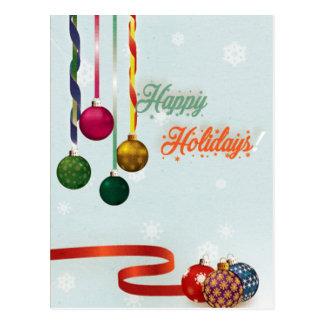 Cartão Postal O feriado feliz ornaments a versão 2