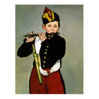 Cartão Postal O Fifer por Edouard Manet