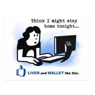 Cartão Postal O fígado e a carteira gostam deste