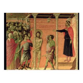 Cartão Postal O Flagellation, do altarpiece de Maesta