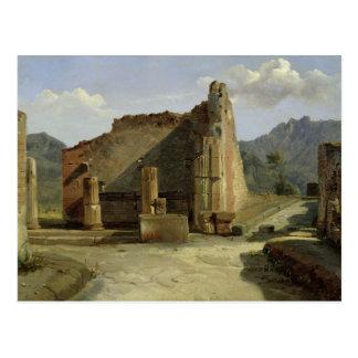 Cartão Postal O fórum de Pompeii