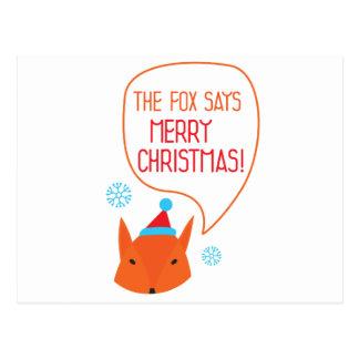 Cartão Postal O Fox diz o Feliz Natal!