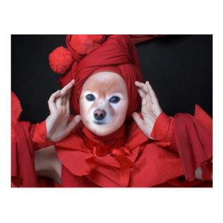 Cartão Postal O Fox é a senhora Vermelho