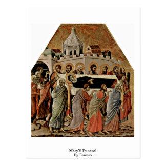 Cartão Postal O funeral de Mary por Duccio