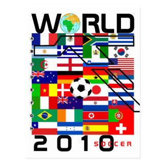 Cartão Postal O futebol 2010 do campeonato do mundo toda a