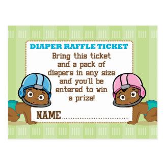 Cartão Postal O futebol étnico dos bebês revela o bilhete do