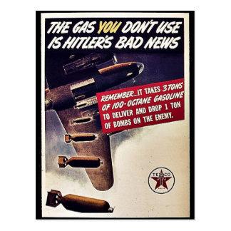 Cartão Postal O gás que você não se usa é as más notícias de