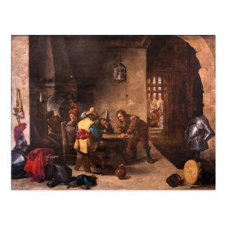 Cartão Postal O Gatehouse com St Peter entregou David Teniers