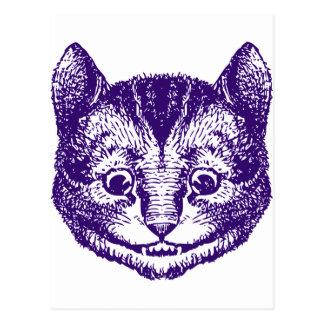 Cartão Postal O gato de Cheshire cobriu o roxo