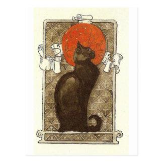 Cartão Postal O gato de Steinlein - arte Nouveau