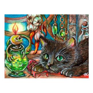 Cartão Postal O gato do alquimista