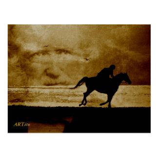 Cartão Postal O ginete de mofo - Theodor Storm