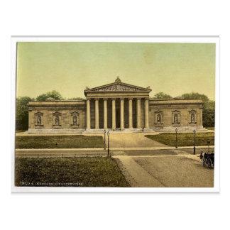 Cartão Postal O Glypothek (galeria de arte), Munich, Baviera,