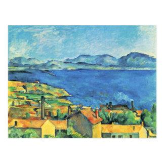 Cartão Postal O golfo de Marselha visto de L'Estaque