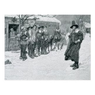 Cartão Postal O governador do puritano