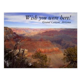Cartão Postal O Grand Canyon, deseja que você estava aqui!