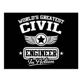 Cartão Postal O grande engenheiro civil do mundo na ação