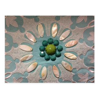 Cartão Postal O grânulo projetou verdes azeitonas da flor e