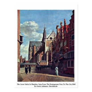 Cartão Postal O Grote Markt em Haarlem