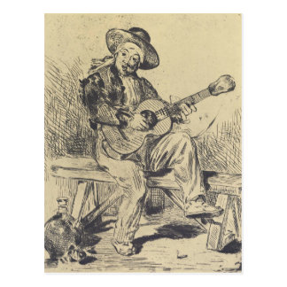 Cartão Postal O guitarrista por Edouard Manet